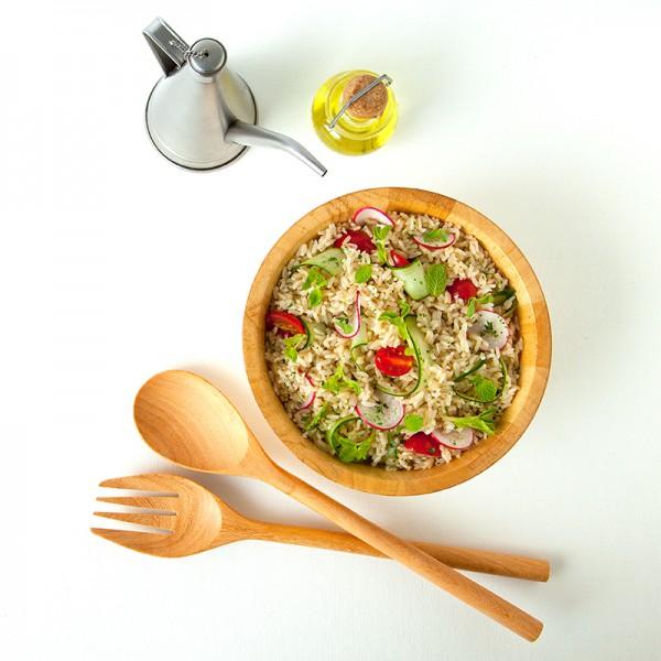 Mediterranean Germinated Brown Rice Salad